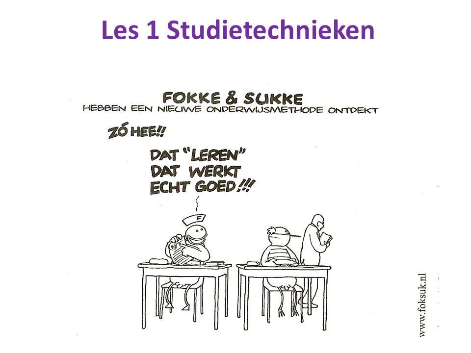 Les 1 Studietechnieken