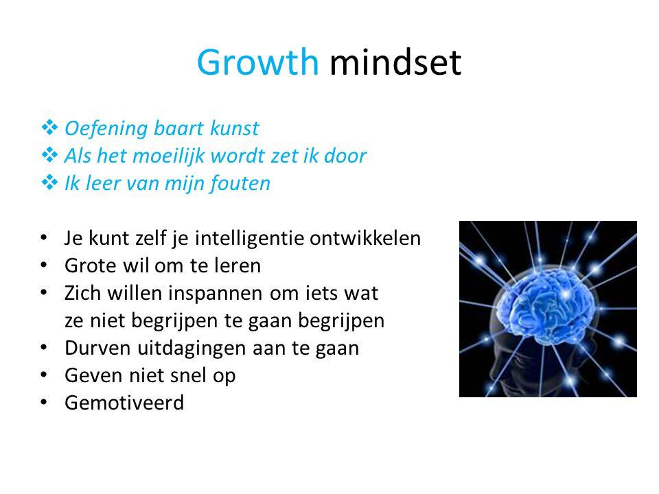 Growth mindset Oefening baart kunst Als het moeilijk wordt zet ik door