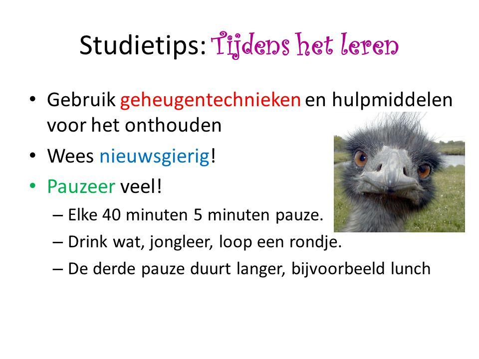 Studietips: Tijdens het leren
