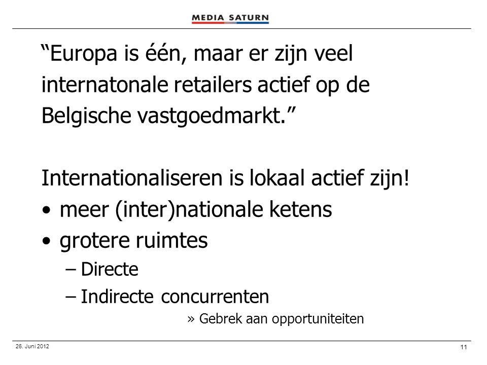 Europa is één, maar er zijn veel internatonale retailers actief op de