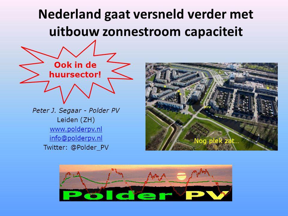 Nederland gaat versneld verder met uitbouw zonnestroom capaciteit