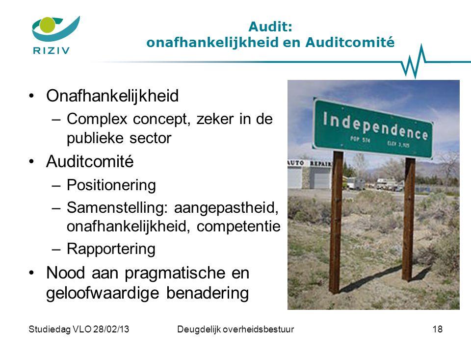 Audit: onafhankelijkheid en Auditcomité
