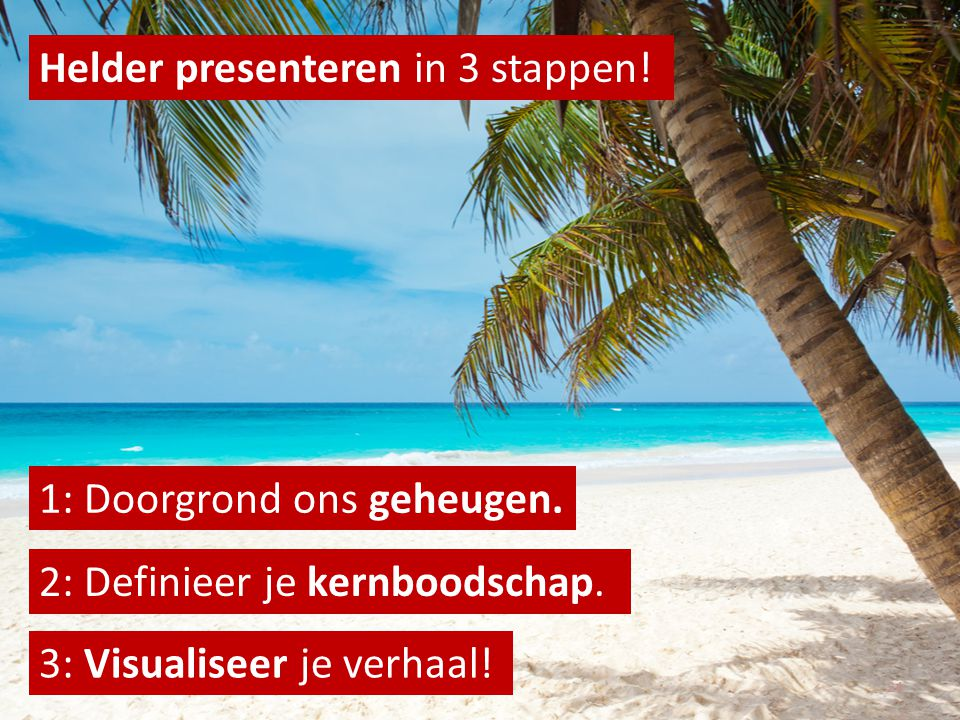 Helder presenteren in 3 stappen!