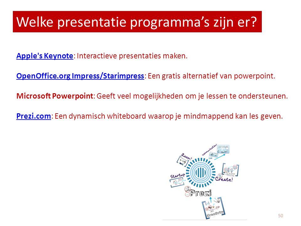 Welke presentatie programma's zijn er