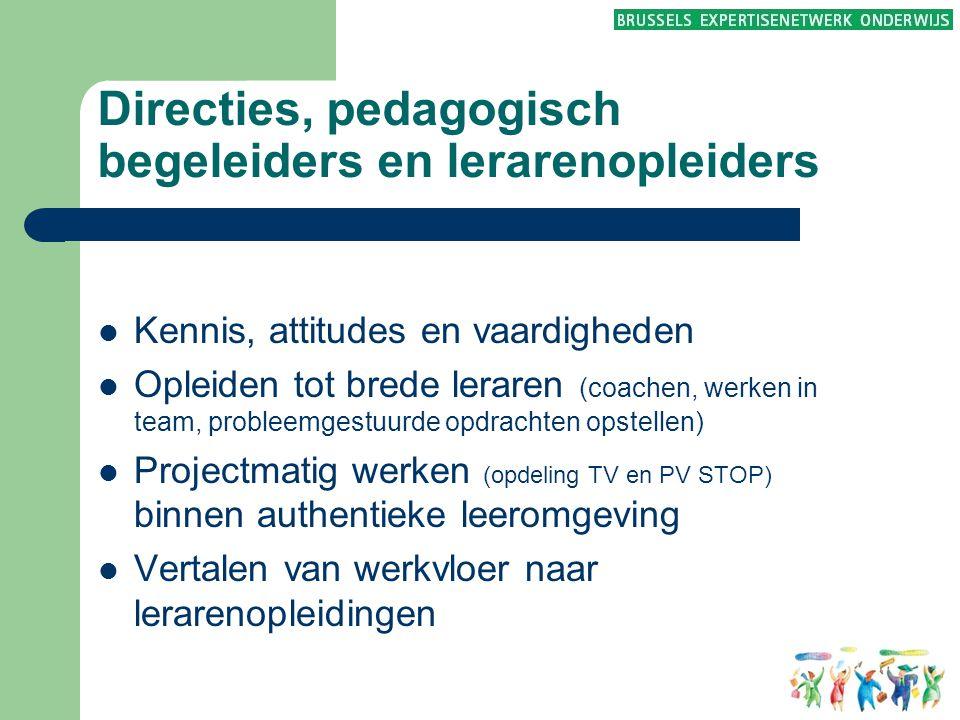 Directies, pedagogisch begeleiders en lerarenopleiders