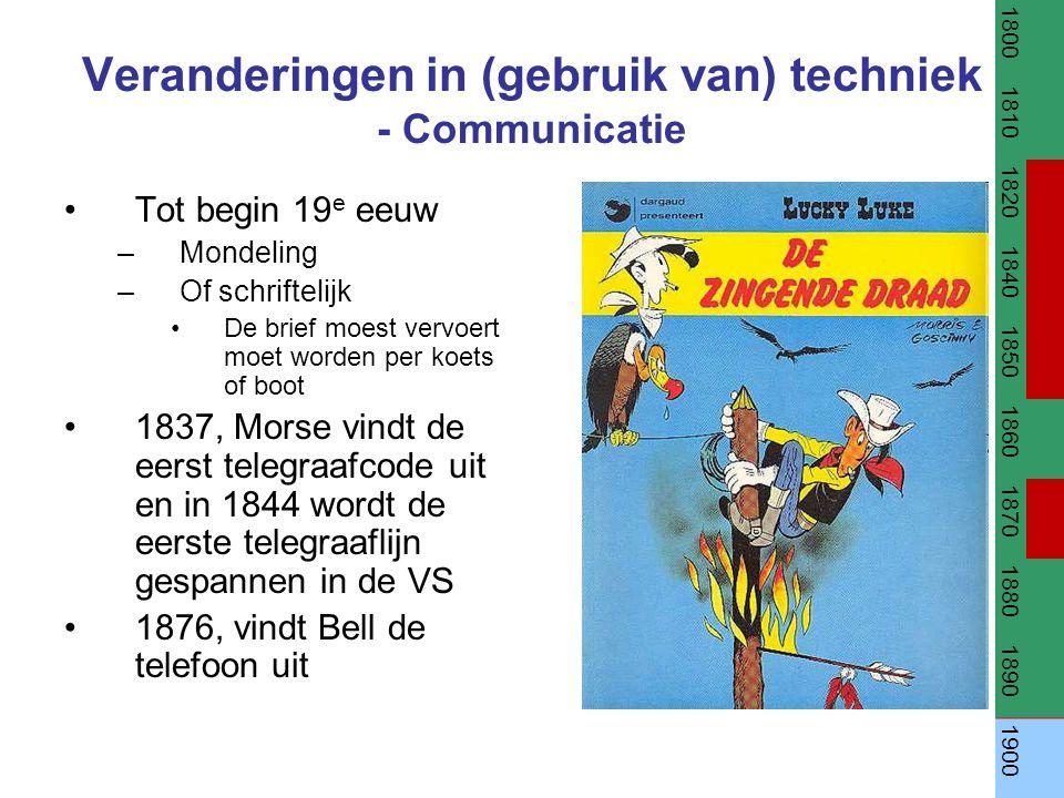 Veranderingen in (gebruik van) techniek - Communicatie