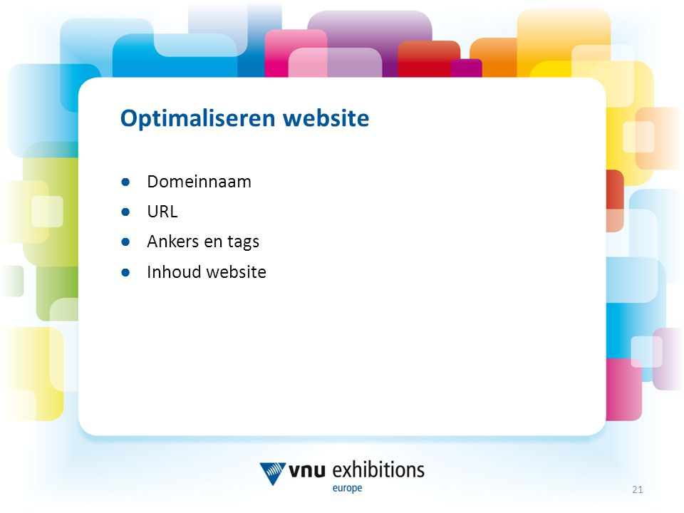 Optimaliseren website