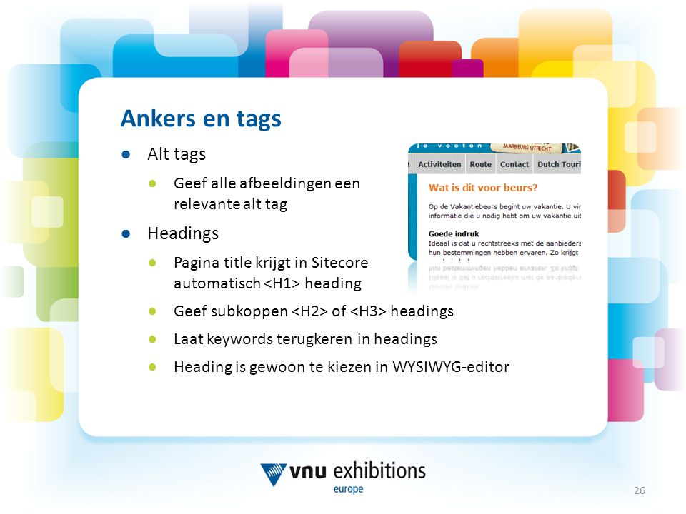 Ankers en tags Alt tags Headings