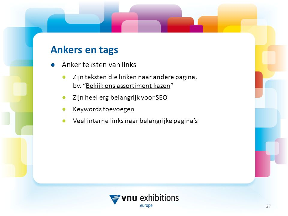 Ankers en tags Anker teksten van links