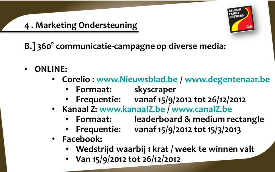 4 . Marketing Ondersteuning