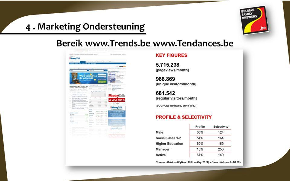 Bereik www.Trends.be www.Tendances.be