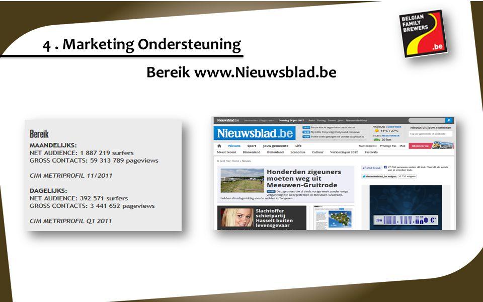 Bereik www.Nieuwsblad.be