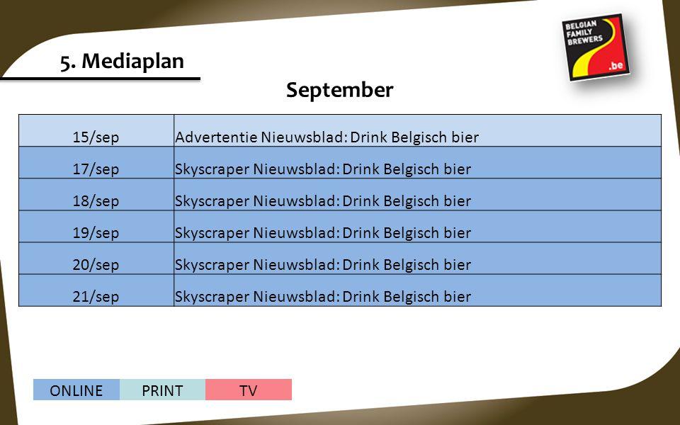 5. Mediaplan September 15/sep