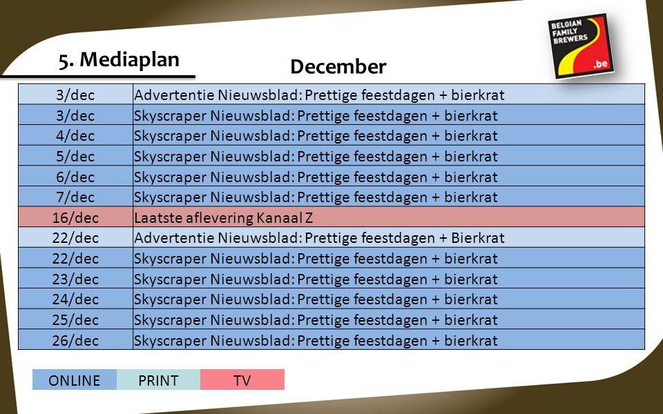 5. Mediaplan December 3/dec