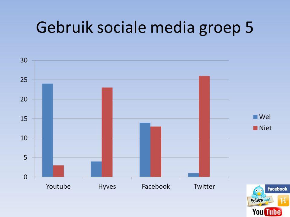 Gebruik sociale media groep 5