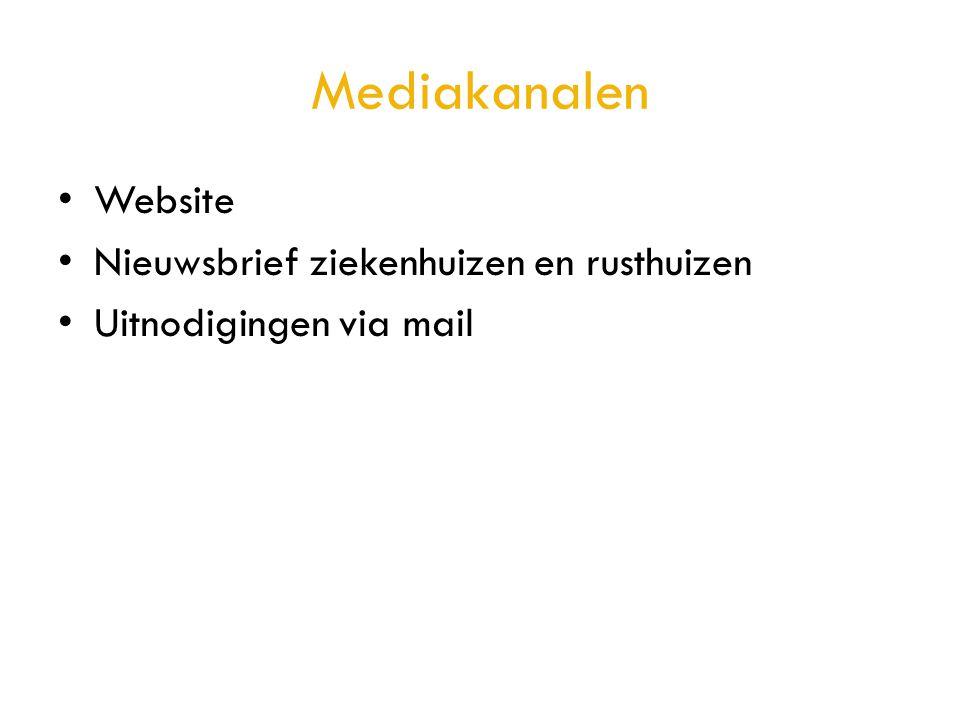 Mediakanalen Website Nieuwsbrief ziekenhuizen en rusthuizen