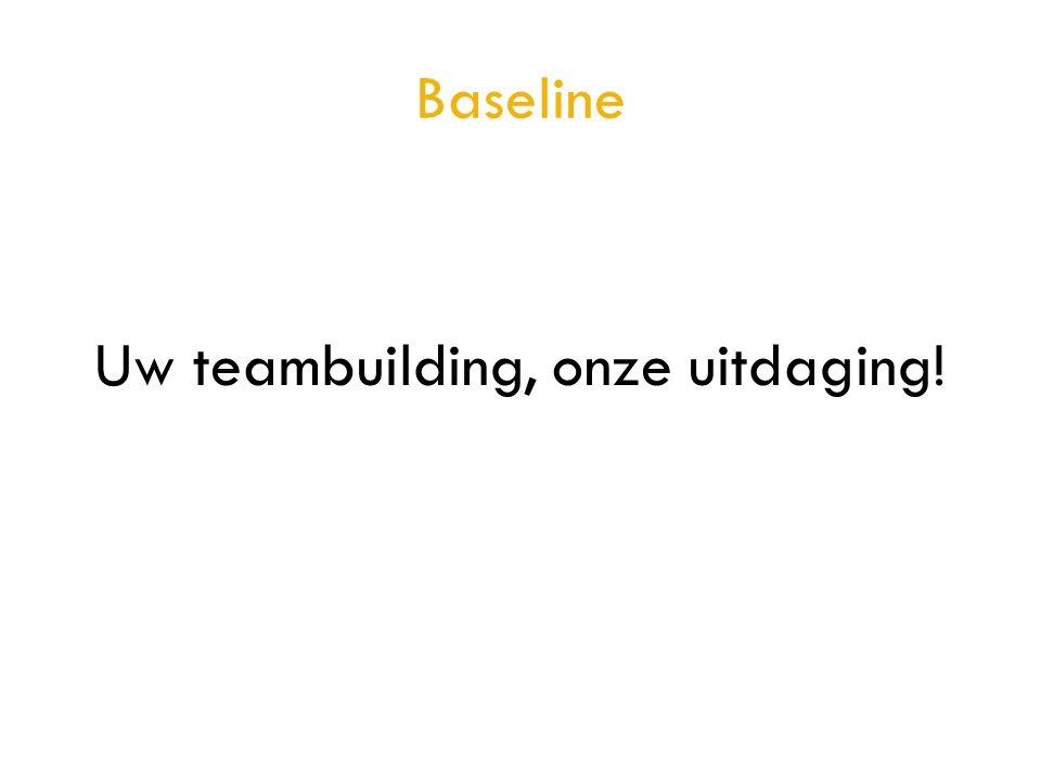 Uw teambuilding, onze uitdaging!