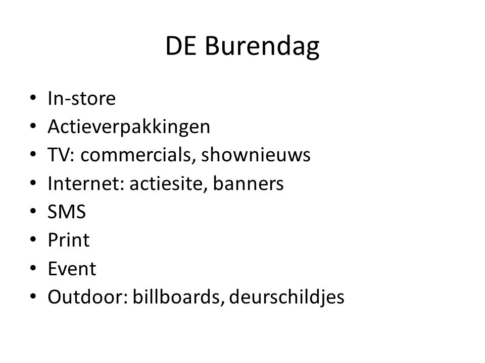 DE Burendag In-store Actieverpakkingen TV: commercials, shownieuws