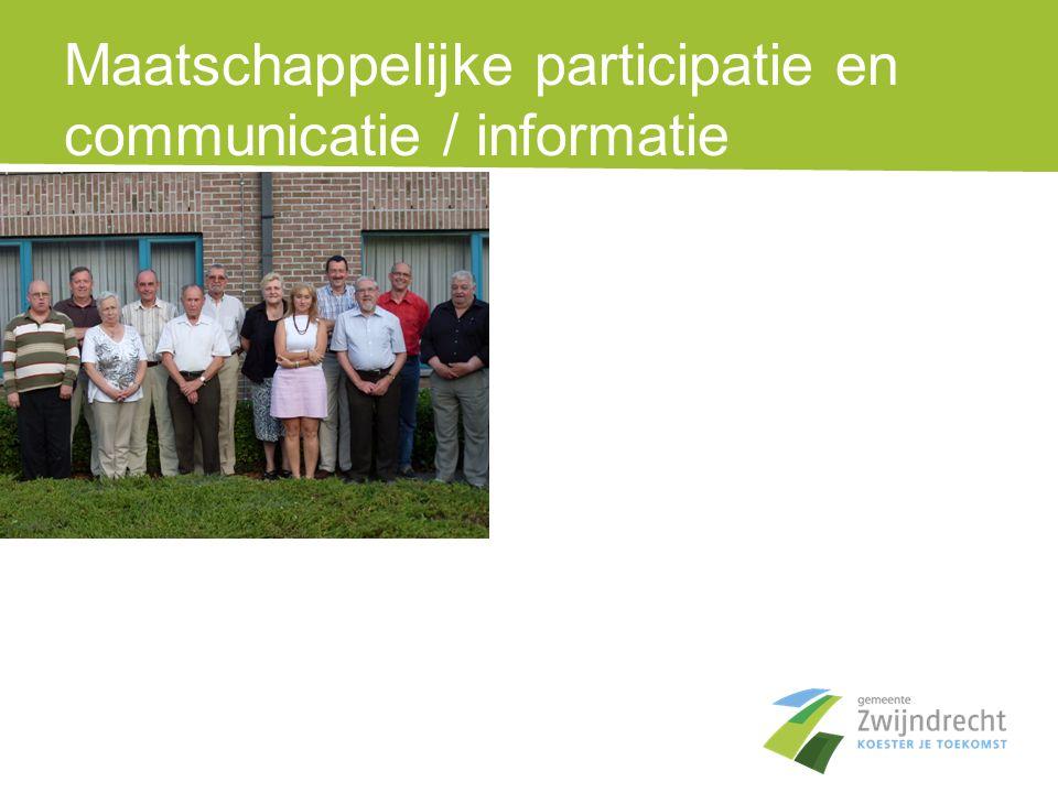 Maatschappelijke participatie en communicatie / informatie