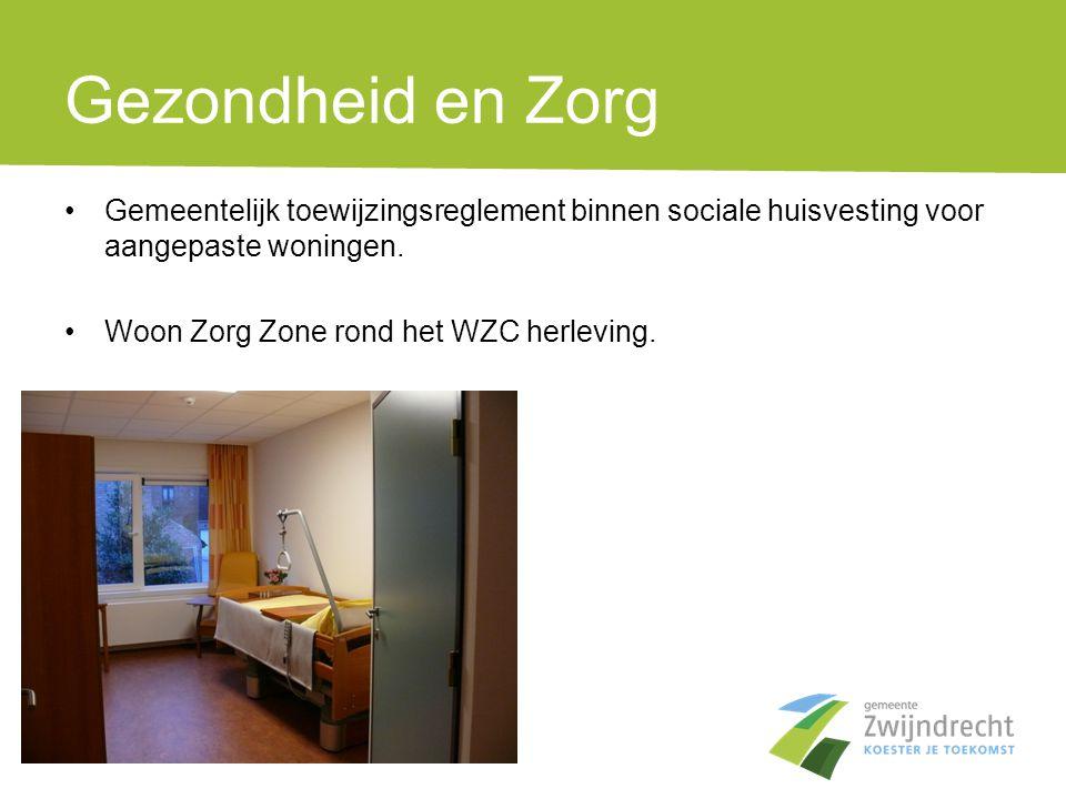Gezondheid en Zorg Gemeentelijk toewijzingsreglement binnen sociale huisvesting voor aangepaste woningen.