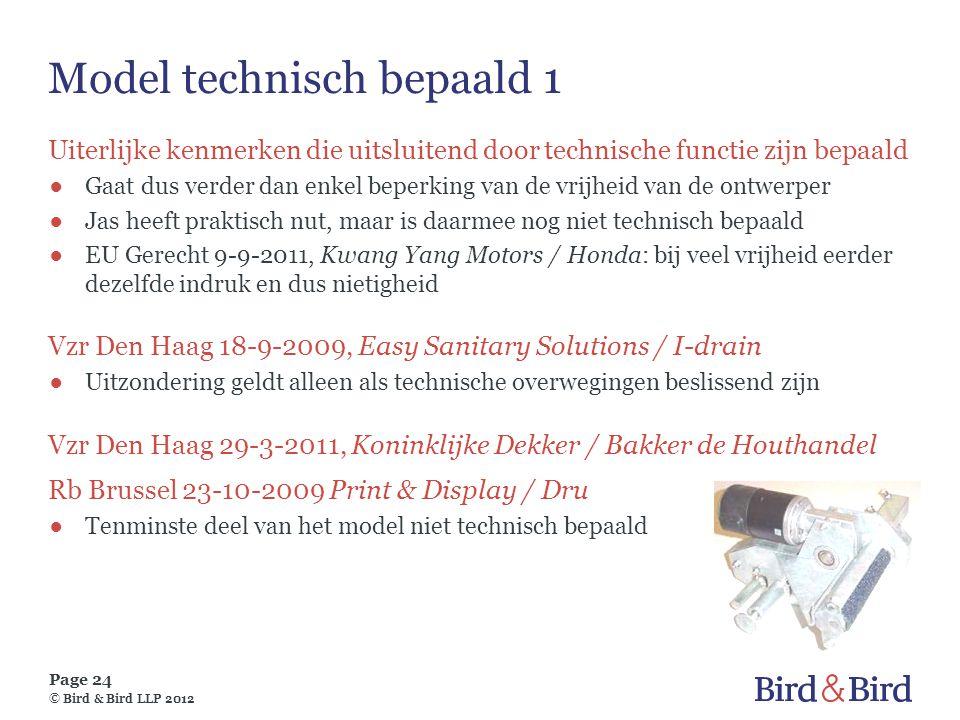 Model technisch bepaald 1