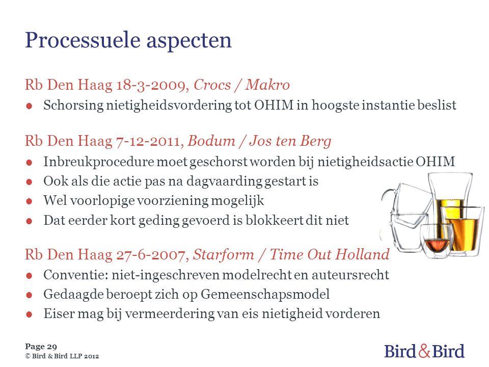 Processuele aspecten Rb Den Haag 18-3-2009, Crocs / Makro