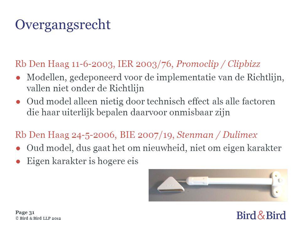 Overgangsrecht Rb Den Haag 11-6-2003, IER 2003/76, Promoclip / Clipbizz.