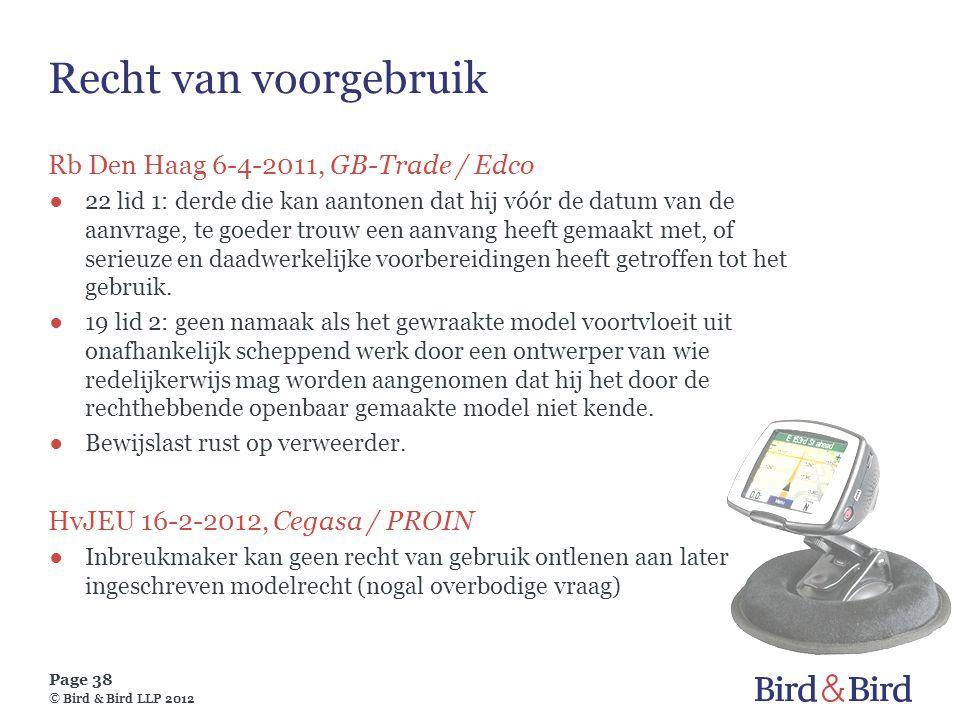 Recht van voorgebruik Rb Den Haag 6-4-2011, GB-Trade / Edco