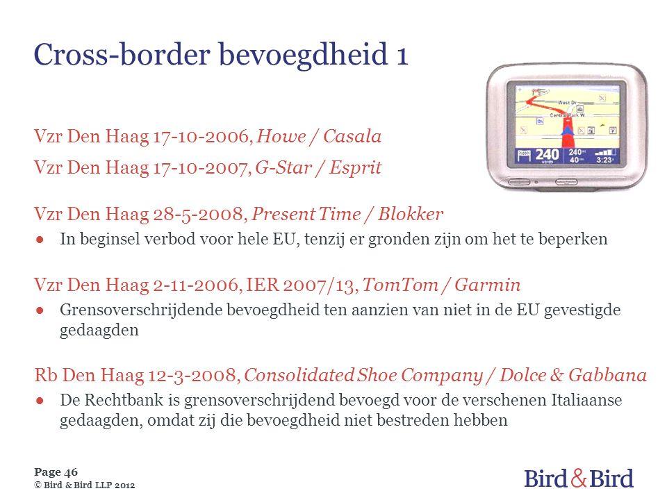 Cross-border bevoegdheid 1