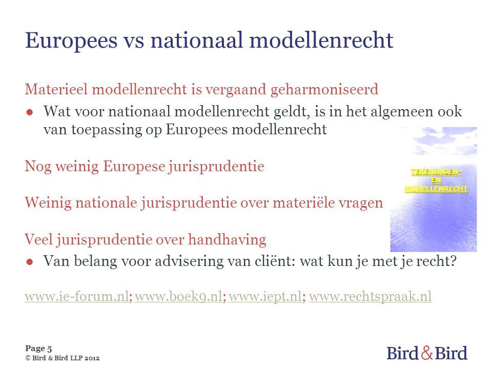 Europees vs nationaal modellenrecht