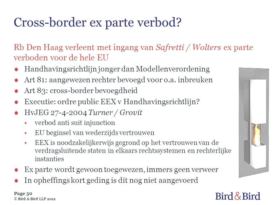 Cross-border ex parte verbod