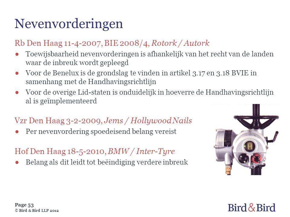 Nevenvorderingen Rb Den Haag 11-4-2007, BIE 2008/4, Rotork / Autork