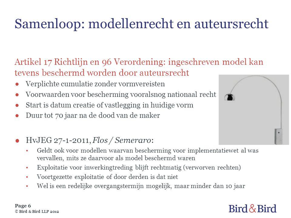 Samenloop: modellenrecht en auteursrecht