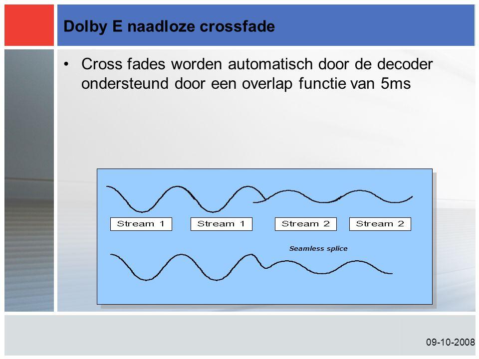 Dolby E naadloze crossfade