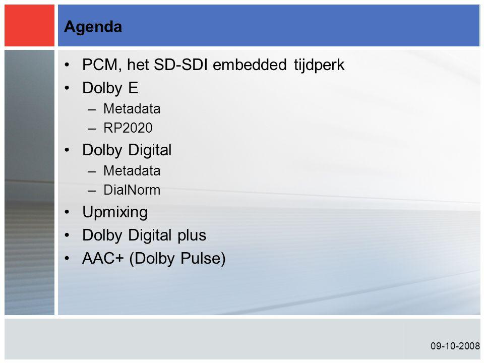 PCM, het SD-SDI embedded tijdperk Dolby E