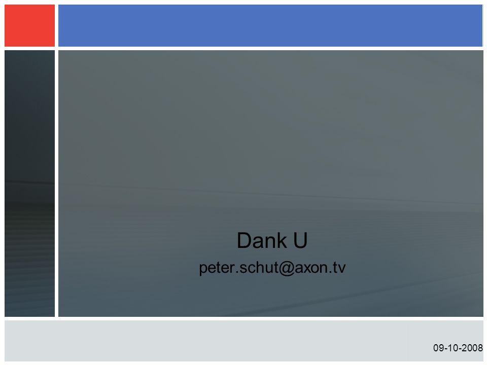Dank U peter.schut@axon.tv