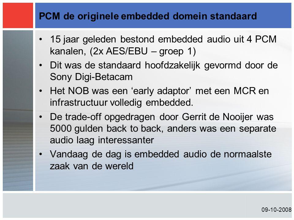 PCM de originele embedded domein standaard