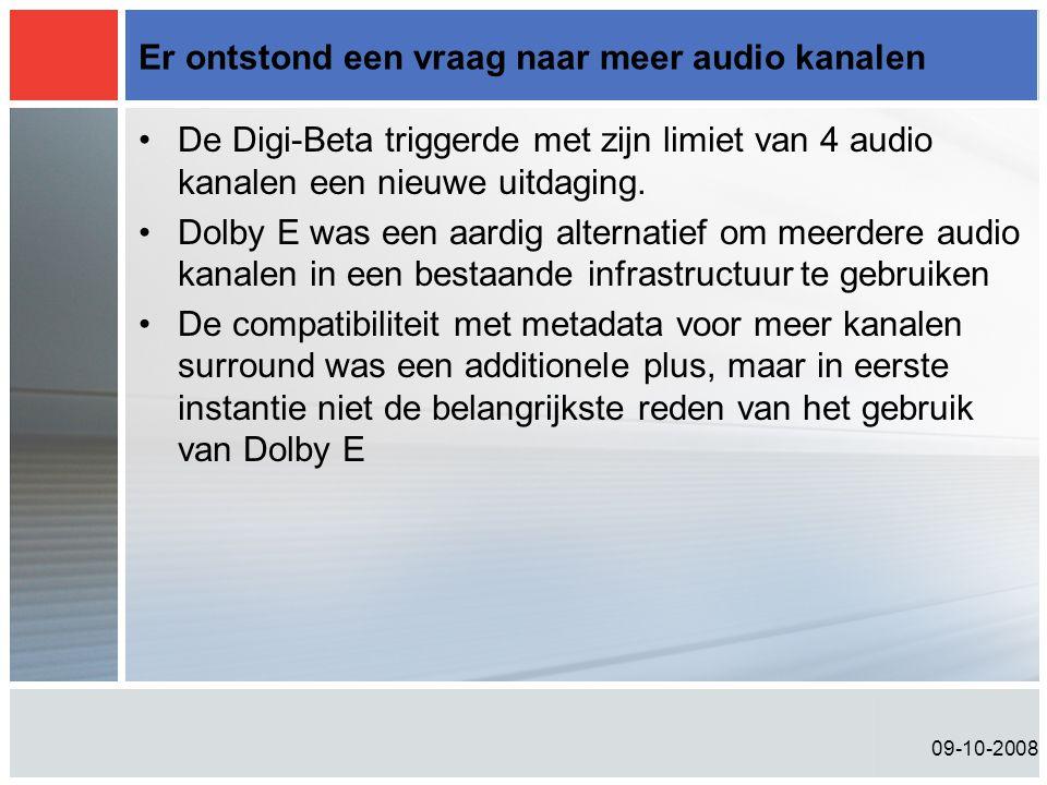 Er ontstond een vraag naar meer audio kanalen