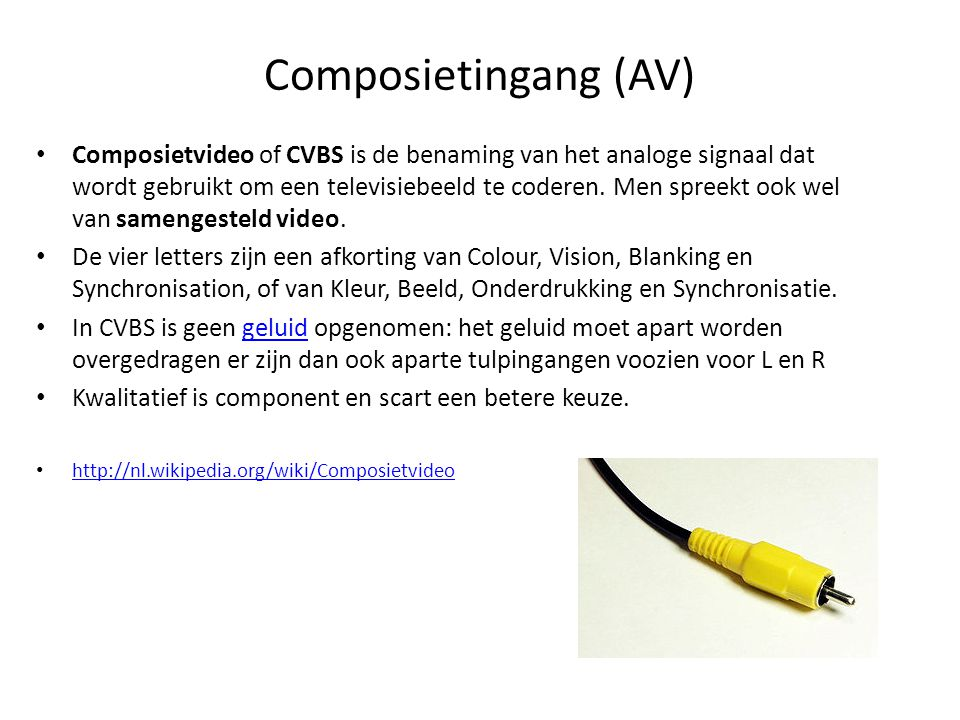 Composietingang (AV)