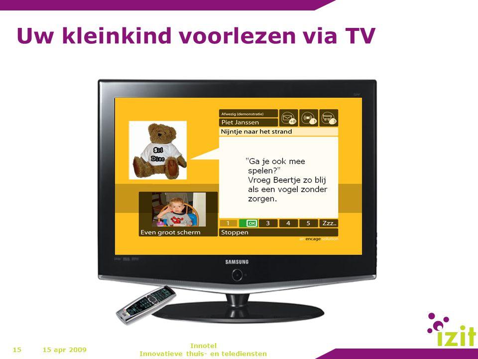 Uw kleinkind voorlezen via TV