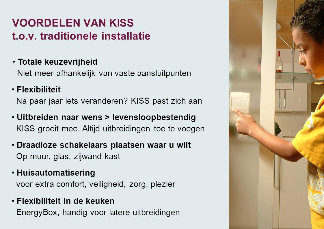 VOORDELEN VAN KISS t.o.v. traditionele installatie