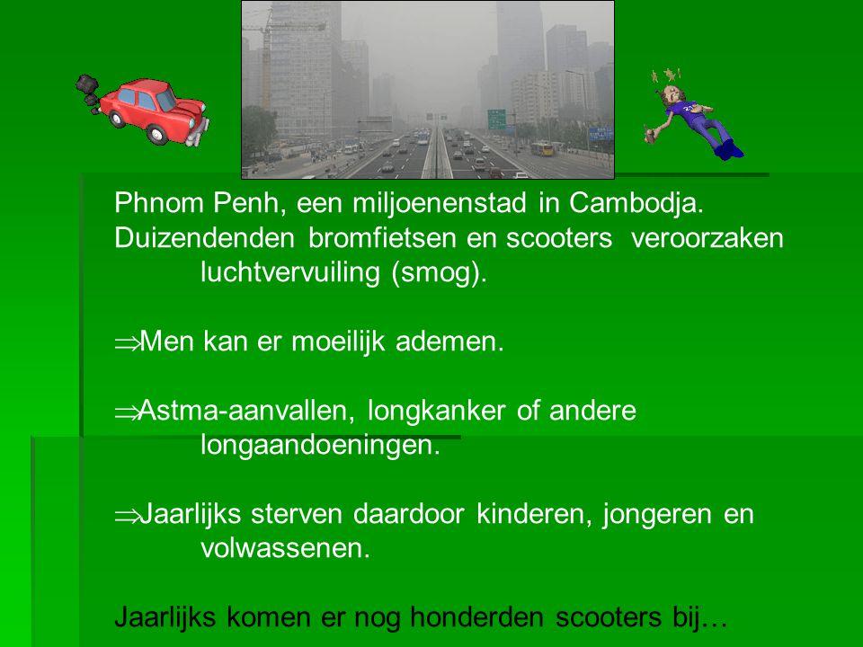 Phnom Penh, een miljoenenstad in Cambodja.