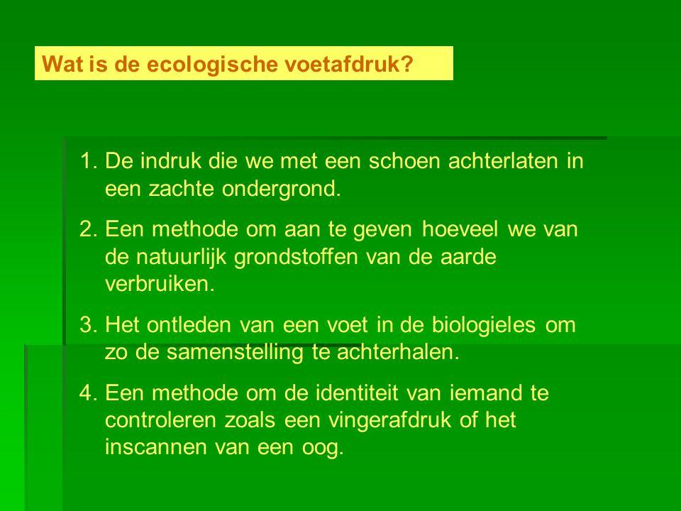 Wat is de ecologische voetafdruk
