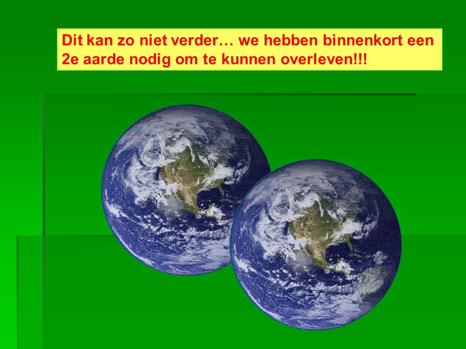Dit kan zo niet verder… we hebben binnenkort een 2e aarde nodig om te kunnen overleven!!!