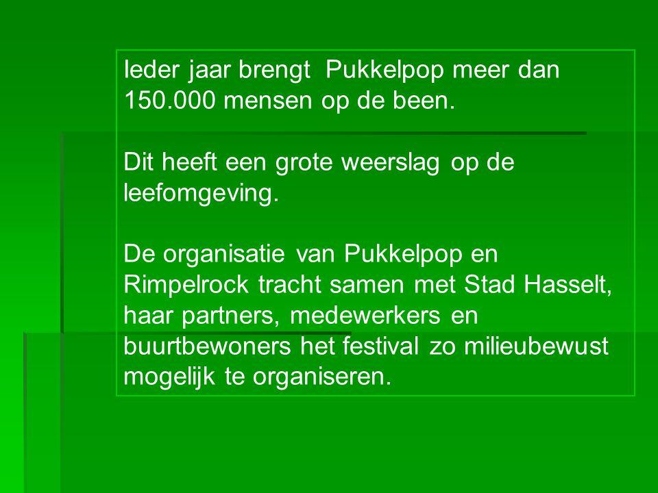 Ieder jaar brengt Pukkelpop meer dan 150.000 mensen op de been.