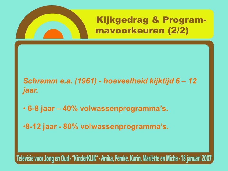 Kijkgedrag & Program- mavoorkeuren (2/2)