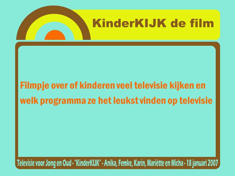 KinderKIJK de film Filmpje over of kinderen veel televisie kijken en