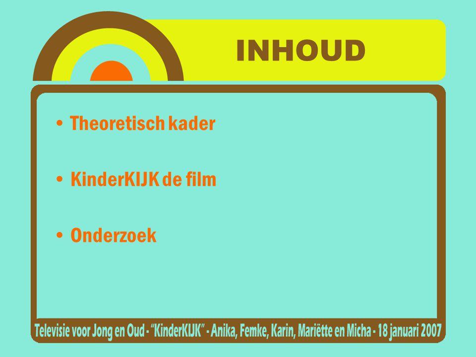 INHOUD Theoretisch kader KinderKIJK de film Onderzoek