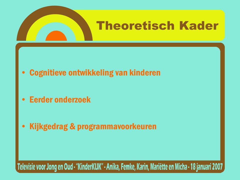 Theoretisch Kader Cognitieve ontwikkeling van kinderen