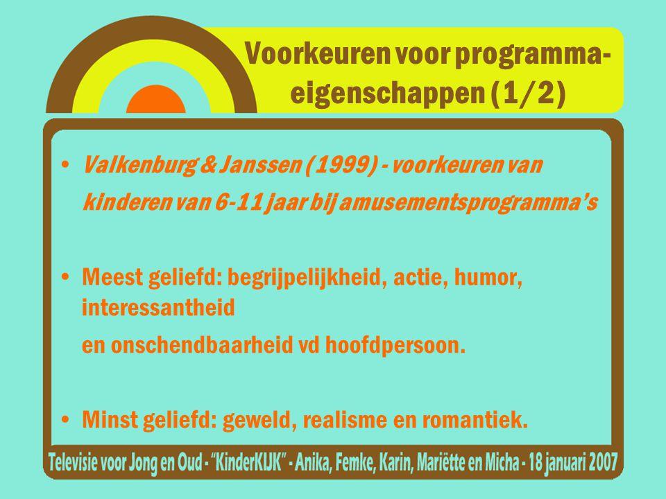 Voorkeuren voor programma- eigenschappen (1/2)